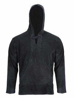 Lightweight cotton hoody – Black
