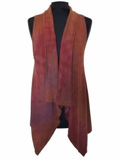 Sleeveless Tie dye Cardigan- Dusty Purple
