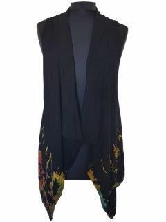 Sleeveless Tie dye Cardigan- Half tie dye