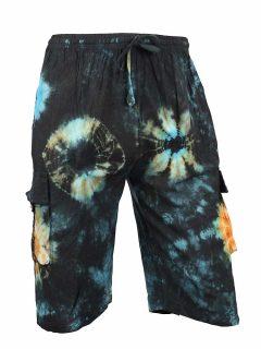 Tie Dye Shorts- Blue