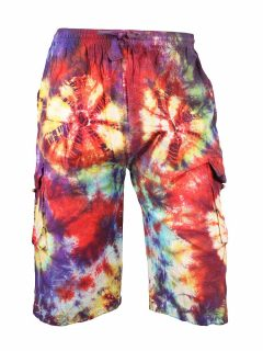 Tie Dye Shorts- Red and Purple