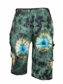 Tie Dye Shorts- Green