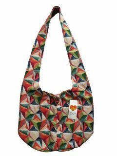 Geometric shoulder bag – Red and Green