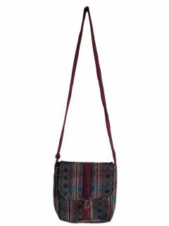 Geometric buckle bag – Maroon Zigzag
