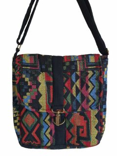 Geometric buckle bag – Red and Black