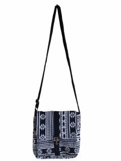 Geometric buckle bag – Black and White